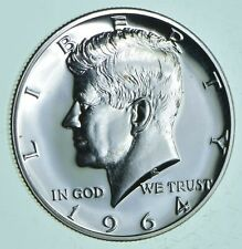 PROOF - 1964 Kennedy Half Dollar 90% Silver - Stunning Mirrors *090
