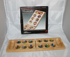 FAO Schwartz Mancala Game Oak Wood Board Gemstones Vintage