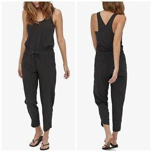 Patagonia Black Fleetwith Scoopneck Cross Back Romper Jumpsuit Small NWT New
