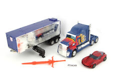 Optimus Prime Trailer & Sideswipe 100% Complete Platinum Edition Transformers