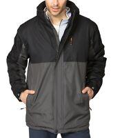 NEW HAWKE CO Men's Carbon Gray / Black Hooded Parka Coat Size XL