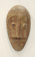 African Mask Lega Tribe Congo Wood Ceremonial Carved Lega Mask