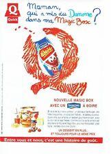 Publicité Advertising 037  1996  le yaourt Danone à boire restaurant Quick