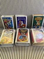 Lot Of 6 Vintage 1995-1996 McDonalds Disney VHS Masterpiece Happy Meal Toys
