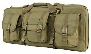 "VISM Short Double Rifle Case DLX 28"" Tactical Small Rifle Bag Carbine Bag TAN"