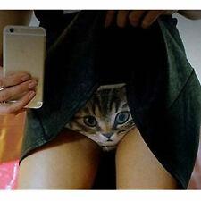 Sexy mutande Costume microfibra slip donna stampa gatto short Cat print Nero