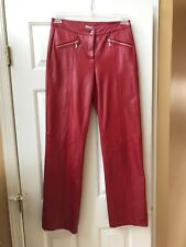 WILSONS Leather Maxima Zip Front Pants Size 4  Rare!