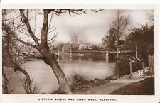 Herefordshire Postcard - Victoria Bridge & River Walk, Hereford - Ref ZZ4244