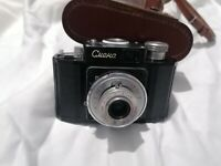 Smena 1 I vintage USSR scale focus camera 35mm T-22 lens 4.5/40 GOMZ LOMO early