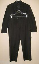 JOS A BANK Charcoal Pinstripe Wool SUIT 42R Sport Coat Blazer & Pants 36 x 29