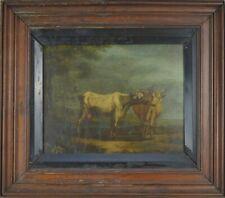 Peinture ancienne Les Vaches  École flamande HSP