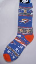 OKC Thunder Men's Socks Large Size 10 to 13 Holiday Christmas Ugly Sweater