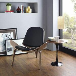 Black Hans Wegner Shell Chair CH70 Famous Contemporary Chic Retro Living Room