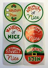 100 Holiday Naughty Or Nice  Stickers Teacher Supply Party Favors Christmas