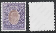 Nyasaland (728) 1903 KE7 BCA £10 -  a Maryland FORGERY unused