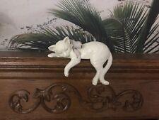 The San Francisco Music Box Company Cat Porcelain White for Shelf Firepl Mantel
