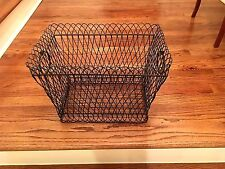 FRENCH WIRE LAUNDRY BASKET VINTAGE LARGE with HANDLES