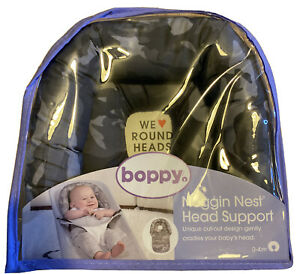 Boppy Noggin Nest Head Support, Gray Camo, Head Support for Infants - Ships FREE