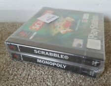 SCRABBLE & MONOPOLY Double Pack - UK Pal - NEW & SEALED - Sony PS1