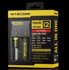 Nitecore i2 charger 2014 18650 RC123A CR2 NCR IMR High Drain Lithium Battery