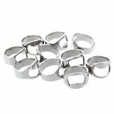 10x Finger Thumb Ring Bottle Opener Bar Beer Tool Silver Stainless Steel DT