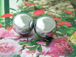 Baoding Balls Solid Stainless Steel 40mm 2pcs For Wrist Strengthening Relaxation