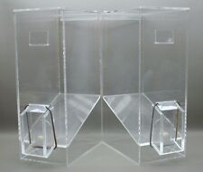 2 Commercial Acrylic Cereal Candy Dispenser Cafeteria Breakfast / dog food