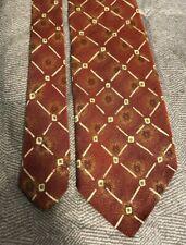 Men's Silk Tie, Robert Talbott Best of Class Nordstrom Red Orange Green Made USA
