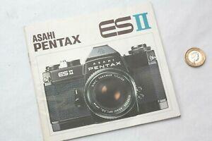 Genuine ASAHI PENTAX INSTRUCTION MANUAL for ESII 35mm film camera