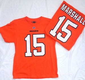 Chicago Bears Football Brandon Marshall Short Sleeve T-Shirt Orange