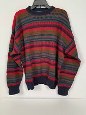 Pendleton V-neck Sweater L//S Cotton Cashmere blend Red size L NWT $119
