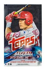 MLB trading card box - 2018 Topps Series 1 Baseball card Hobby Box  BRAND NEW