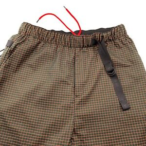 Nike Tech Pack Sportswear Mens Woven Grid Loose Fit Black Shorts Mens Size Large