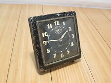 Vintage Metal Westclox Spur Square Alarm Clock With Luminous Dial