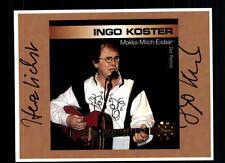 Ingo Koster autografiada mapa original firmado # bc 41986