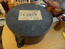VINTAGE 1940s/50s Cappello Da Viaggio Beauty Case Scatola Bagagli P & O cimeli Prop
