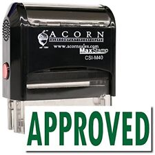 MaxStamp - Large Self-Inking Approved Stamp (Black Ink)