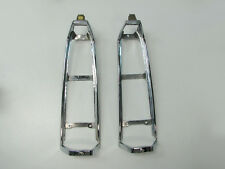 88-91 Cadillac Eldorado Taillight Tail Light Chrome Bezels Pair GM Nice!