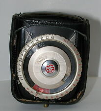 GE Exposure Light Meter Type PR-3 with leather case Made in USA