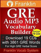 Franklin GRE Audio MP3 Vocabulary Builder: Download 19 CDs with 3861 GRE Words F