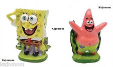 SpongeBob SPONGEBOB &  PATRICK Aquarium Reptile Crab Decoration Ornament 2 Piece