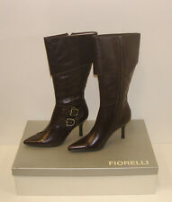 FIORELLI WOMENS POINTY WINTER BOOTS SIZE 10 LEATHER LADIES JAYE CHOC rrp $299.95