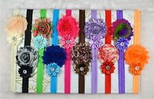 10pcs kids Baby girl Infant Toddler flower Hair bow band headband Accessories JB