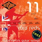ROTOSOUND R11 REDS MEDIUM ELECTRIC GUITAR STRINGS 11-48  for sale