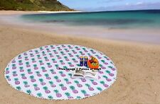 Indian Wall Hanging Tapestry Pineapple Cotton Bed Cover Round Ethnic Yoga Mat