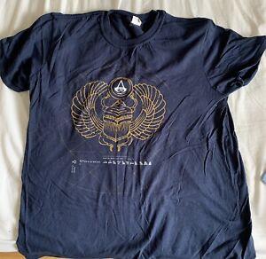 Assassins Creed Origins Official Promotional Shirt, Navy Blue (Size L, Large)