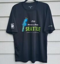 Brooks Rock N Roll Seattle Marathon & Half 2017 Black Unisex L Large T-shirt