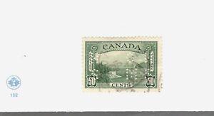 1939 Canada SCOTT #O244 KGVI Θ used F-VF stamp