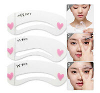 New Grooming Stencil Kit Shaping DIY Beauty Eyebrow Template Make Up Tool 1 SET