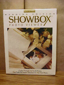 """Wedding Edition """"SHOWBOX"""" Photo Viewer Cycles 40 Photos - New Factory Sealed"""